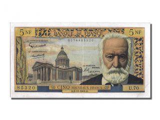 French Paper Money,  5 Nouveaux Francs Type Victor Hugo,  02 Novembre 1961, . . . photo