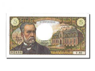 French Paper Money,  5 Francs Type Pasteur,  01 Août 1968,  Fayette 61.  8 photo