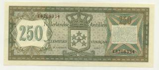 Netherlands Antilles 250 Gulden 1967 Pick 13.  A Unc photo