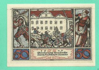 Germany Arnstadt 50 Pfg.  1921 Unc Gem Notgeld Dt 156517 Wqs6 photo