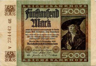 Germany 5.  000 Mark 1922 V234442ge photo