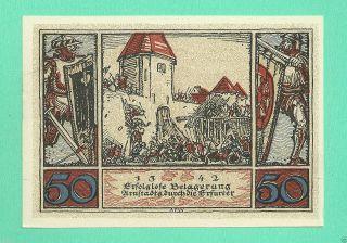 Germany Arnstadt 50 Pfg.  1921 Unc Gem Notgeld 165625 Wqs7 photo