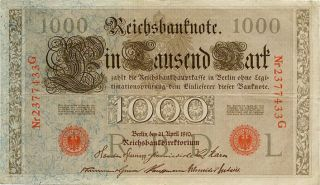 Germany 1000 Mark 1910 Nr2377433g photo