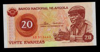 Angola 20 Kwanzas 1976 Ab Pick 109 Unc. photo