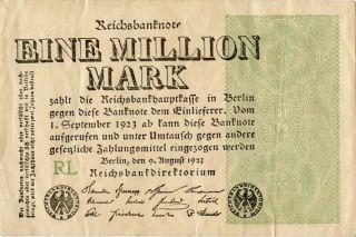 Germany 1.  000.  000 Mark 1923 Rl 0000235 photo