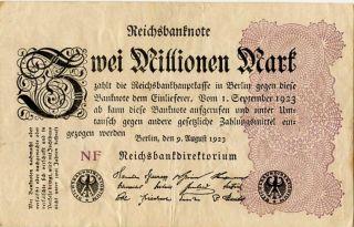 Germany 2.  000.  000 Mark 1923 Nf 0000236 photo