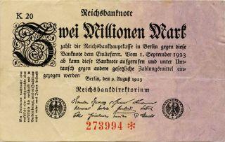 Germany 2.  000.  000 Mark 1923 273994 photo