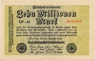 Germany 10.  000.  000 Mark 1923 088069 photo