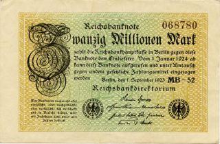 Germany 20.  000.  000 Mark 1923 068780 photo