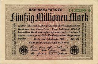 Germany 50.  000.  000 Mark 1923 113239 photo