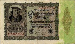 Germany 50.  000 Mark 1922 E03952586 photo