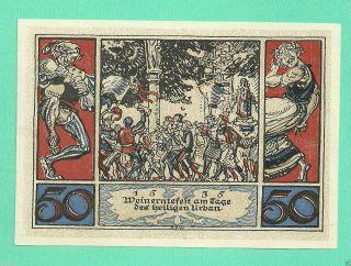 Germany Arnstadt 50 Pfg.  1921 Unc Gem Notgeld N 118198 Wqer2 photo