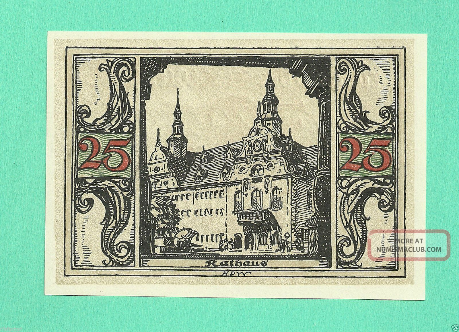 Germany Arnstadt 50 Pfg.  1921 Unc Gem Notgeld St Wqer8 Europe photo