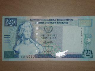 Cyprus 20 Pounds 2004 Xf photo