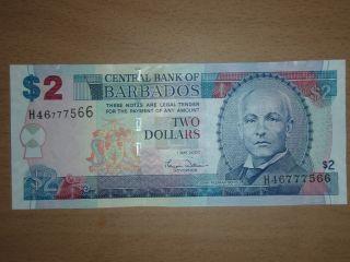 Barbados 2 Dollars Unc photo
