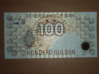 Netherlands 100 Gulden 1992 Unc photo