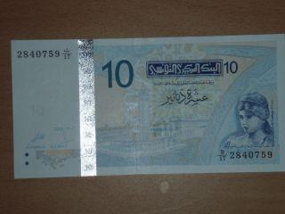 Tunisia 10 Dinars Unc photo