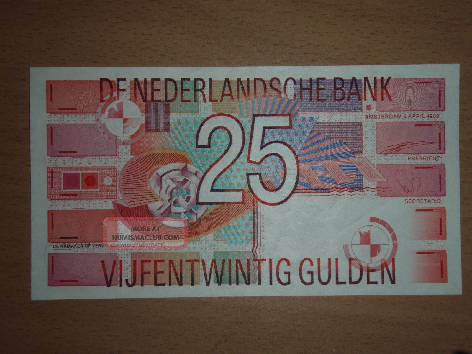 Netherlands 25 Gulden 1989 Xf+ Europe photo