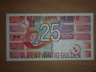 Netherlands 25 Gulden 1989 Xf+ photo