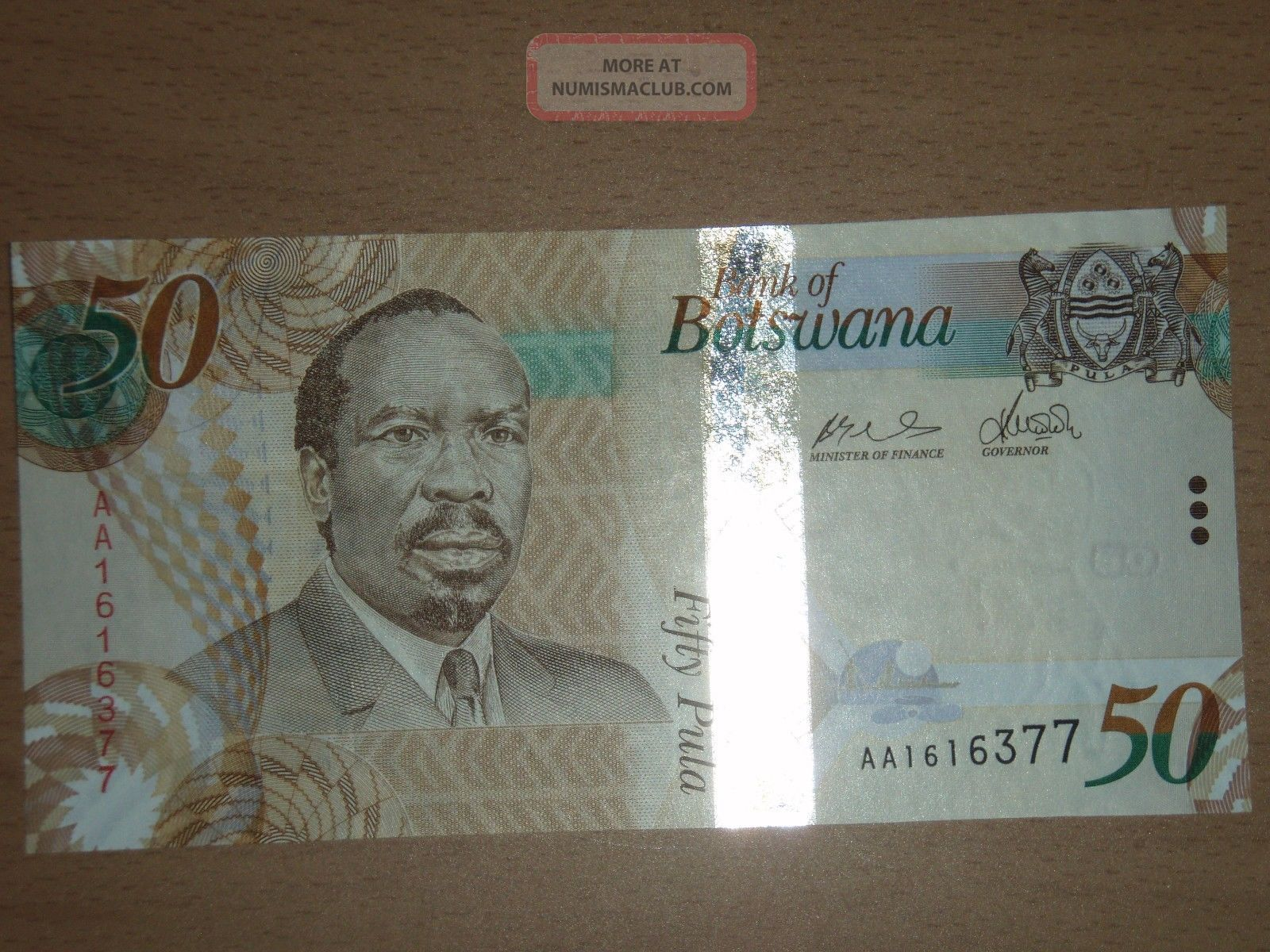 Botswana 50 Pula Unc Africa photo