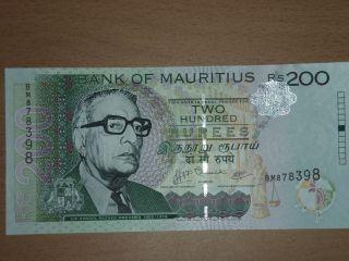 Mauritius 200 Rupees Unc photo