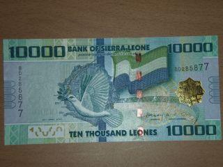 Sierra Leone 10000 Leones 2010 Unc photo