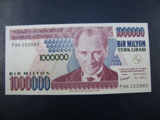 Ac - Turkey - 7th Emission 1 000 000 Tl P 90 252 892 Uncirculated photo