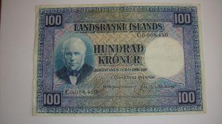 Iceland 100 Kronur 1928 Serial 8,  480 photo