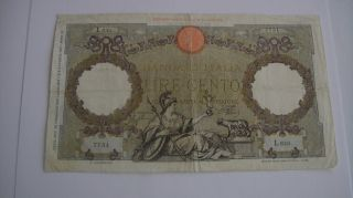 Italy - 100 Lire 1941 Banknote 7751 photo