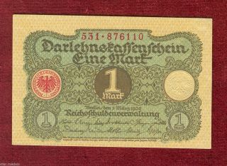 Germany 1 Mark 1920 Bank Note photo