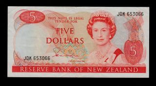 Zealand 5 Dollars (1981 - 85) Jdk Pick 171a Vf - Xf. photo