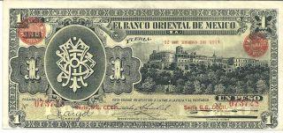 Mexico 1 - 12 - 1914 $1 Peso