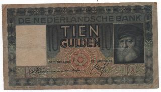 Netherlands 10 Gulden 1936 Pick 49 Look Scans photo