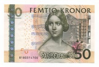Sweden 50 Kronor 2008 Pick 64 Unc photo
