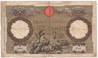 Italy 100 Lire 1940 Pick 55 B Look Scans photo