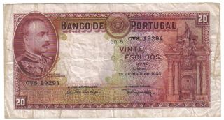 Portugal 20 Escudos 1938 Pick 143 Look Scans photo