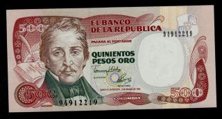 Colombia 500 Pesos 1992 Pick 431a Au - Unc. photo