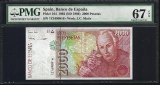 Spain 2000 Pesetas 1995 - Pmg 67 Unc photo