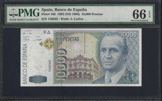 Spain 10000 Pesetas 1992 - Pmg 66 Unc photo