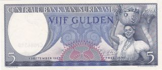 Suriname: 5 Gulden,  1 - 9 - 1963,  P - 120,  Crisp Unc photo