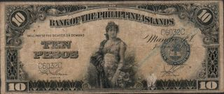 Philippines,  10 Pesos,  1.  1.  1920,  P 14,  Block C photo