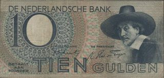 Netherlands,  10 Gulden,  18.  2.  1944,  P 59,  Prefix 2 By photo