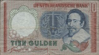 Netherlands,  10 Gulden,  23.  3.  1953,  P 85,  Prefix Cgg photo