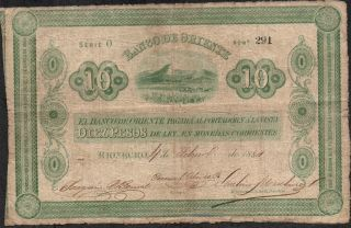 Colombia,  10 Pesos,  4.  2.  1884,  S 699,  Serie O,  Low Serial 291,  Rare photo