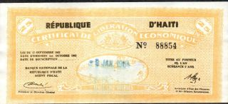 Haiti,  25 Gourdes,  1.  10.  1962,  P 503,  Rare photo