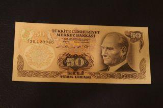 50 Turkish Lira Uncirculated Rare photo