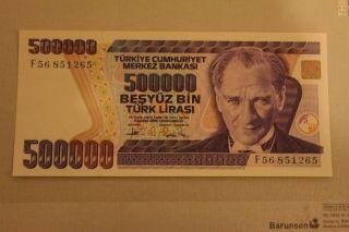 500.  000 Turkish Lira Uncirculated photo