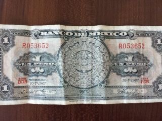 Mexico 1 Peso Banknote photo