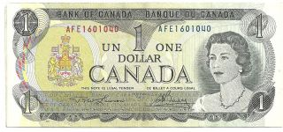Old 1973 Bank Of Canada - Canadian One Dollar Note photo