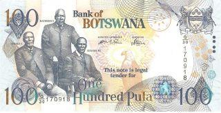 Botswana 100 Pula 2004 Pick 29a Unc photo